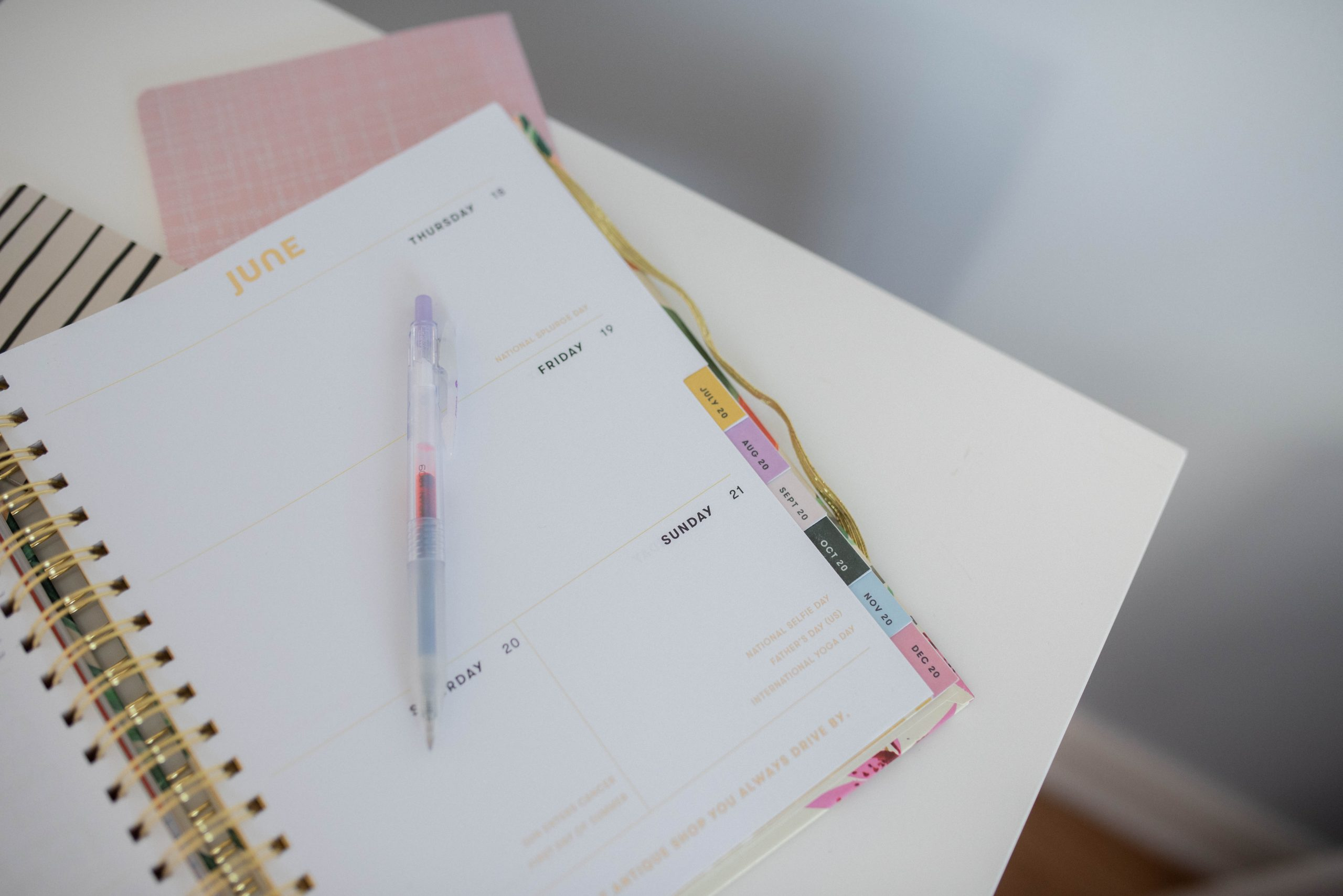 writing to-do list in planner for everyday morning routine