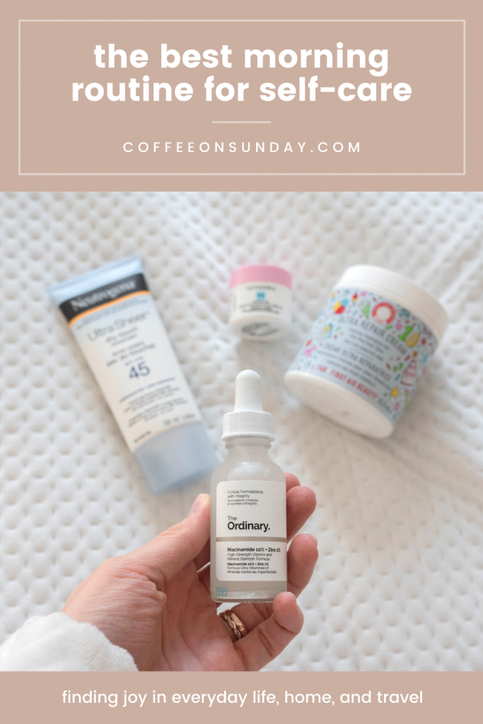 Skincare products from my everyday morning routine