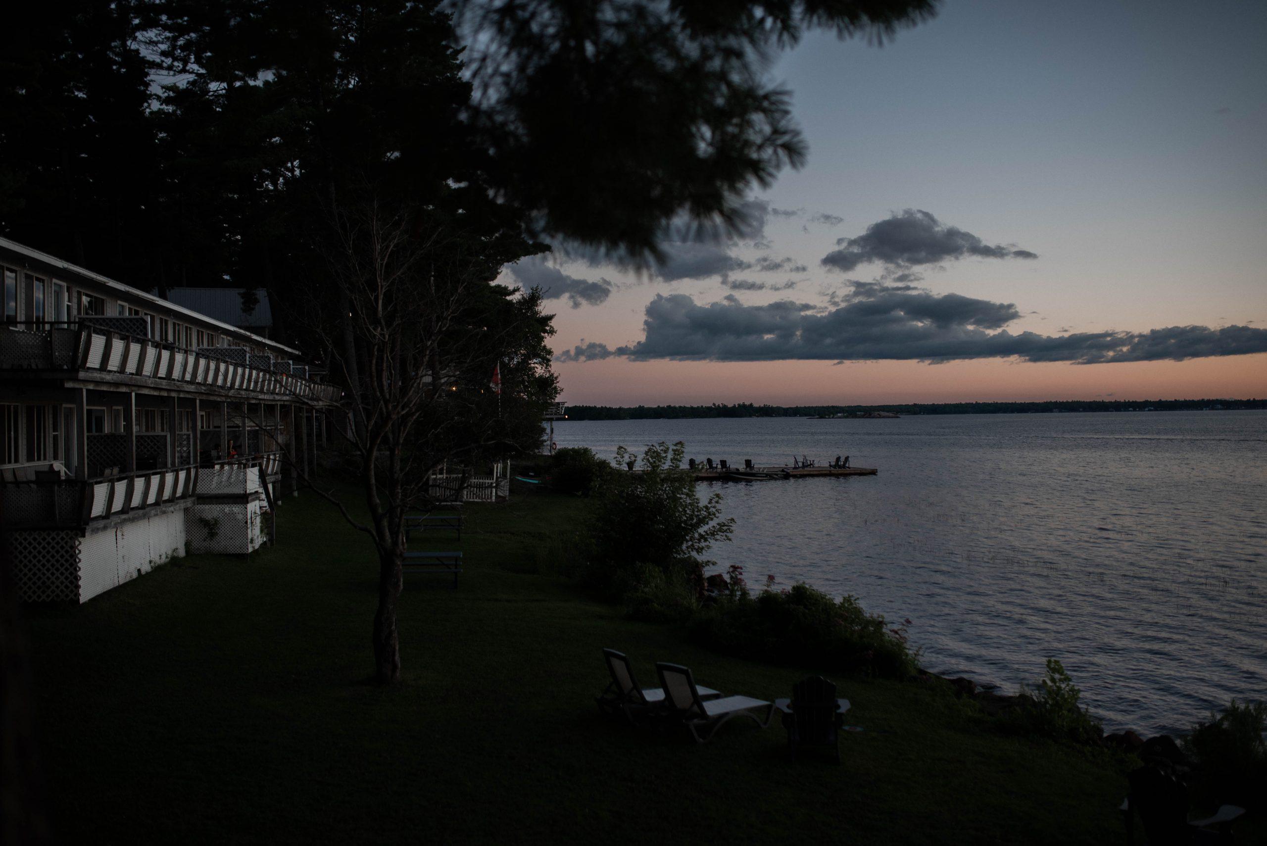 Sunset over the lake in Muskoka