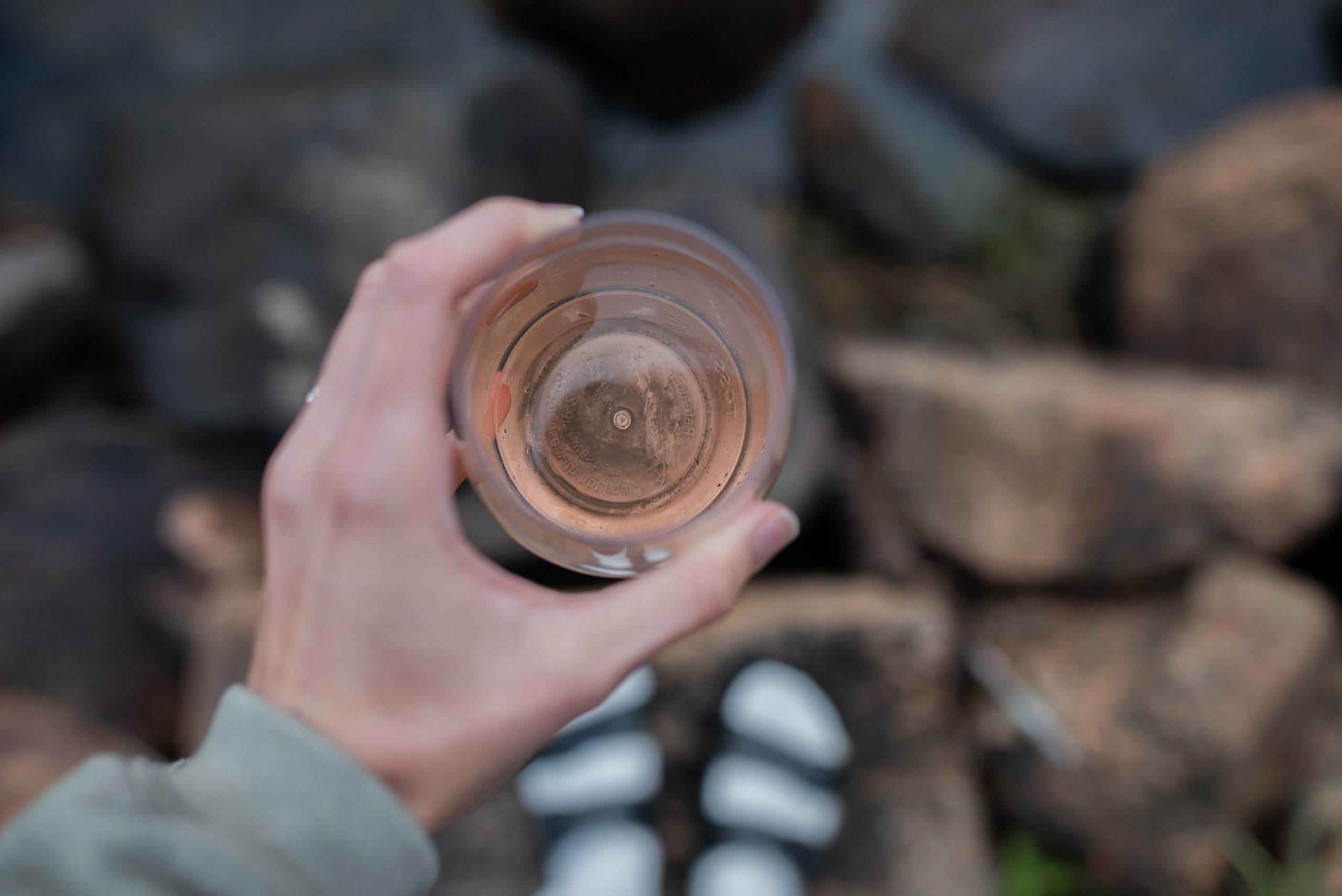wine at the lake