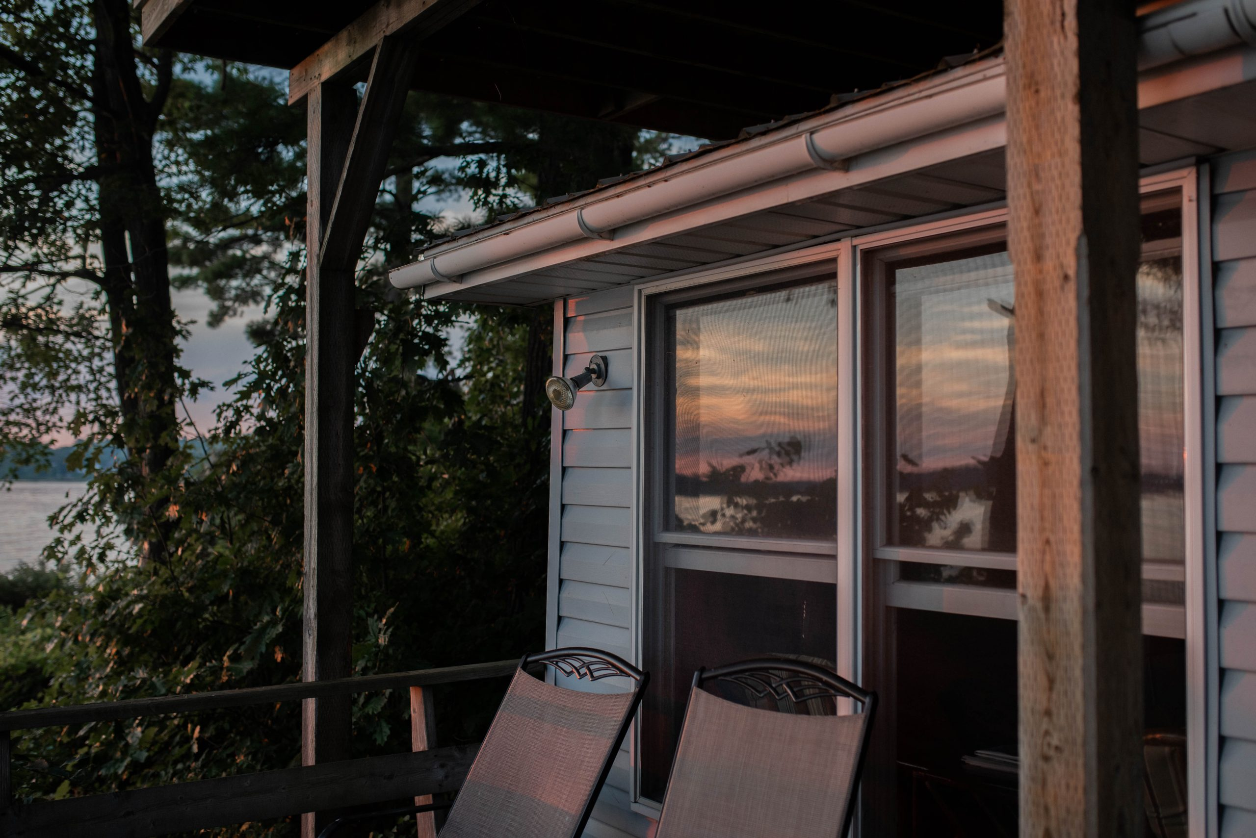 muskoka cottage sunset