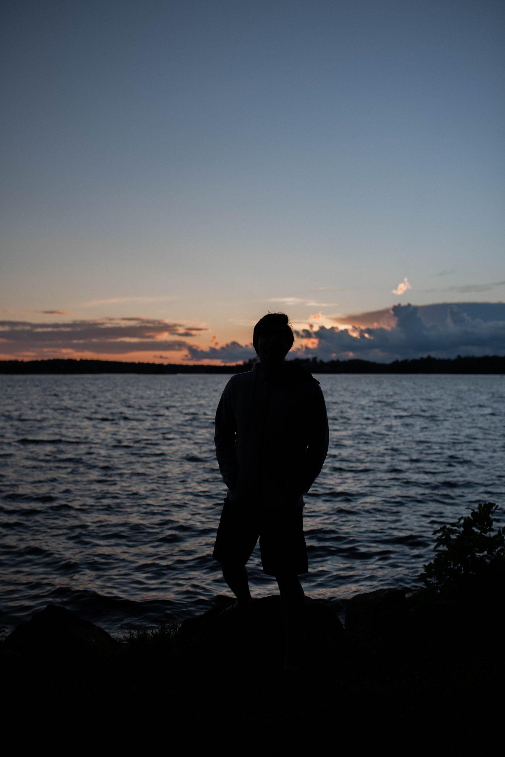 Sunset silhouette in Muskoka
