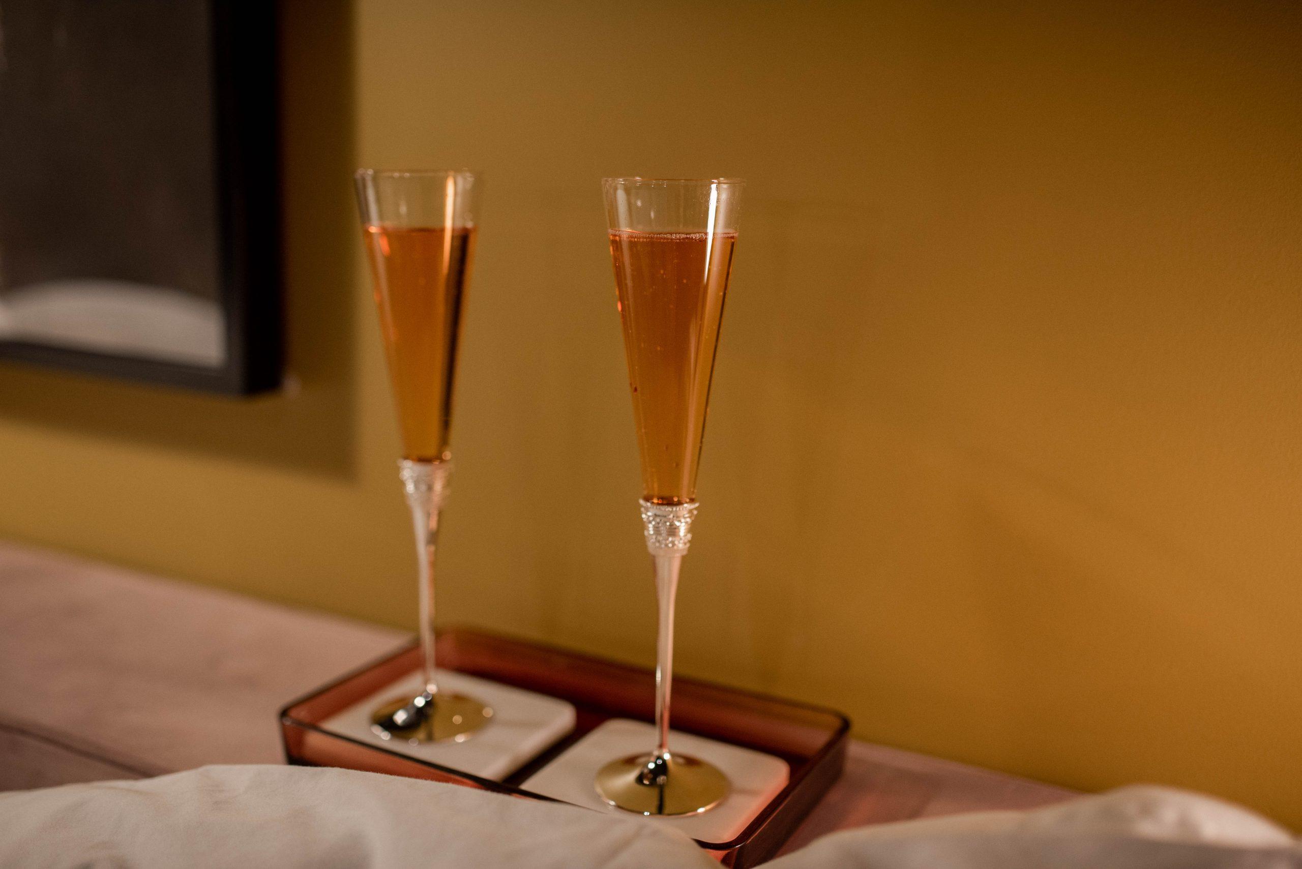 champagne at an inn