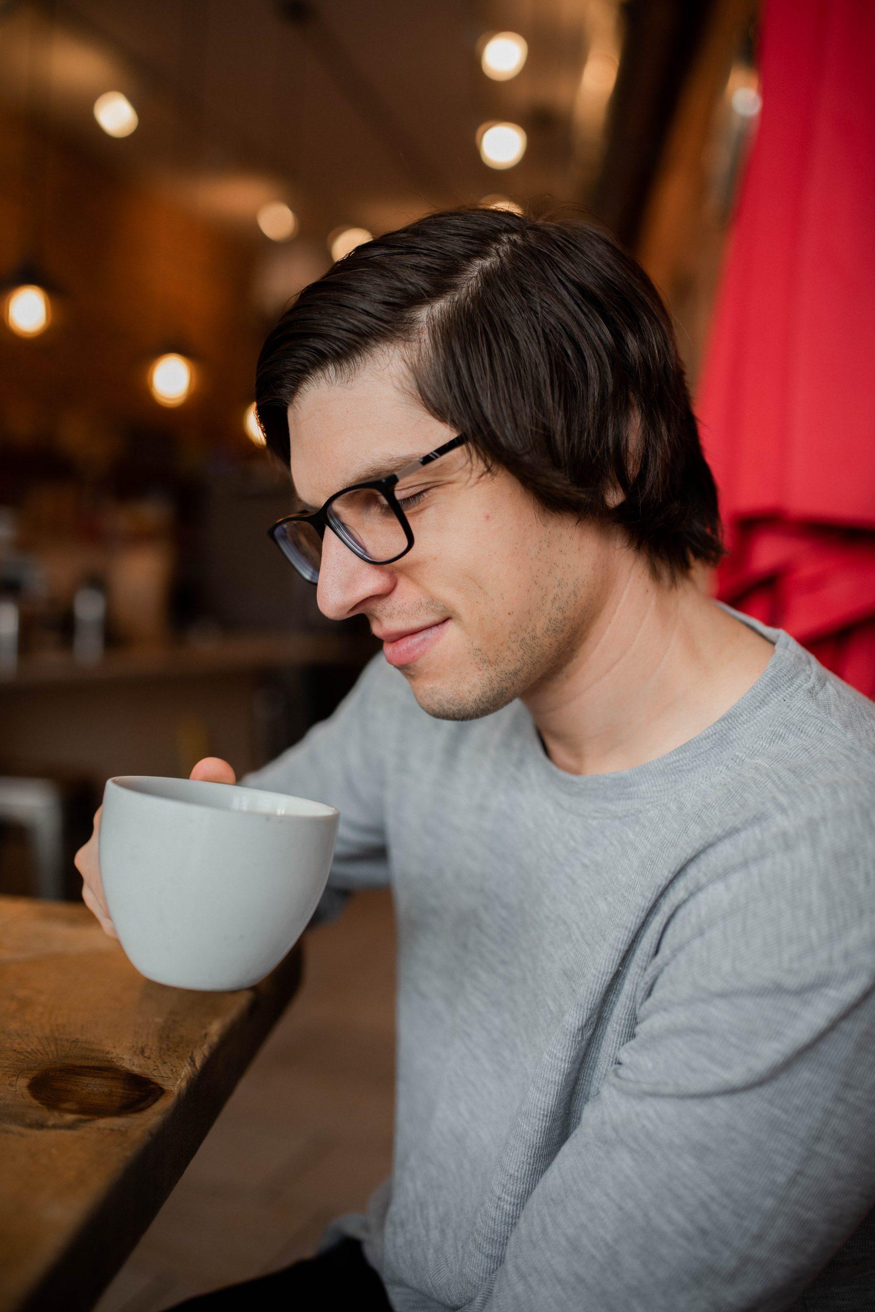 man in kingston coffee house